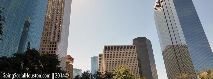 Rodeo Roundup 2013. Houston Skyline. Stylized.
